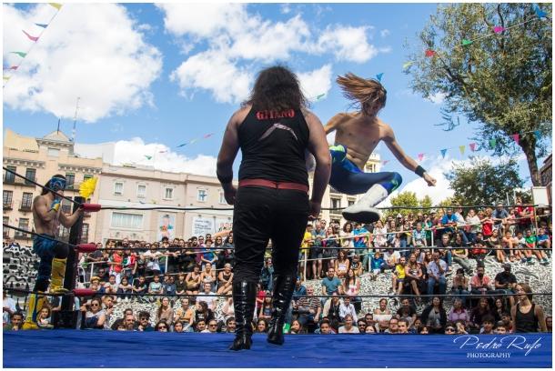 Lucha mexicana en el Campo de la Cebada
